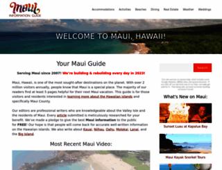 mauiinformationguide.com screenshot