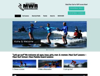 mauiwaveriders.kainalusurfing.com screenshot