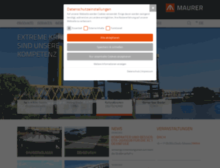 maurer-soehne.com screenshot