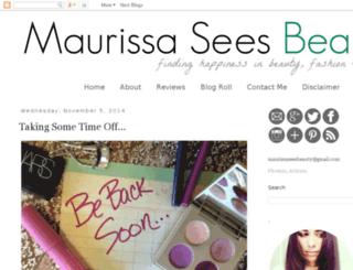 maurissaseesbeauty.blogspot.com screenshot
