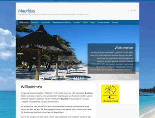 mauritius-evasion.de screenshot