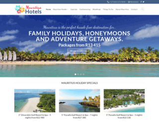 mauritius-hotels.co.za screenshot