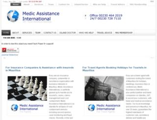 mauritiusmedicalassistance.com screenshot
