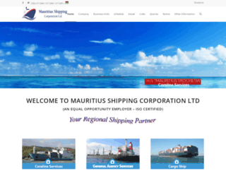 mauritiusshipping.net screenshot