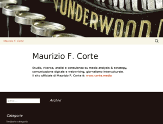 mauriziocorte.org screenshot