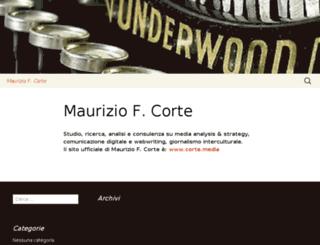 mauriziocorte.org screenshot