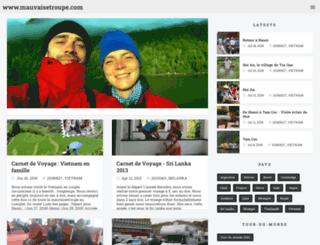 mauvaisetroupe.com screenshot