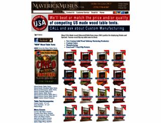 maverickmenus.com screenshot