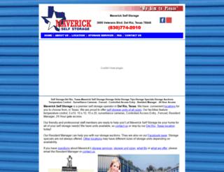 maverickselfstoragedelrio.com screenshot