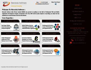 mavericksoftware.in screenshot