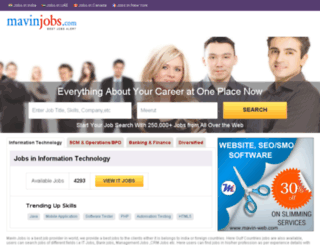mavinjobs.com screenshot