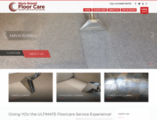 mavisrussellfloorcare.co.uk screenshot