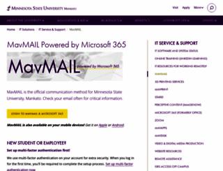 mavmail.mnsu.edu screenshot