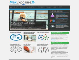 max-exposure.com screenshot