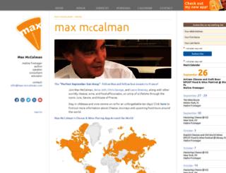 max-mccalman.com screenshot