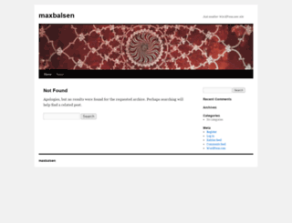 maxbalsen.wordpress.com screenshot