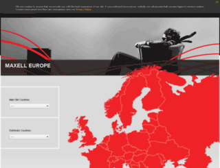 maxell.eu.com screenshot