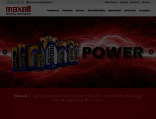 maxell.eu screenshot