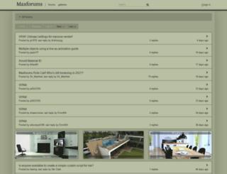 maxforums.org screenshot