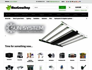 maxgrowshop.com screenshot
