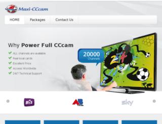 maxi-cccam.eu screenshot