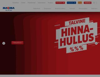 maxima.ee screenshot