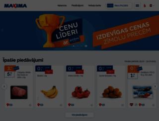 maxima.lv screenshot