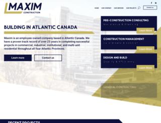maximconstruction.ca screenshot