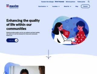 maximhealthcare.com screenshot