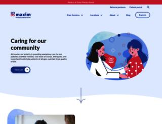 maximhomecare.com screenshot