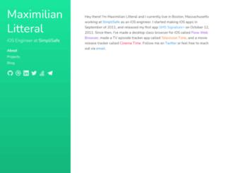 maximilianlitteral.com screenshot