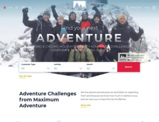 maximumadventure.co.uk screenshot