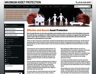 maximumassetprotection.com screenshot