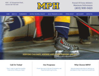 maximumperformancehockey.ca screenshot