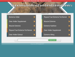 maximumshredandextremedeerantler.com screenshot