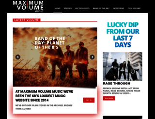 maximumvolumemusic.com screenshot