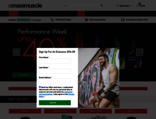 maximuscle.com screenshot