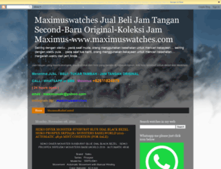 maximuswatches.com screenshot