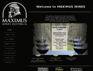 maximuswinesaustralia.com.au screenshot