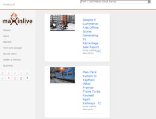 maxinlive.com screenshot