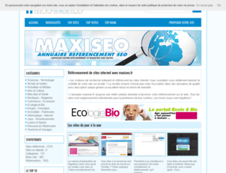 maxiseo.fr screenshot