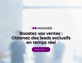 maxiweb.fr screenshot