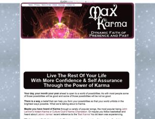 maxkarma.com screenshot