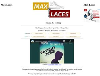 maxlaces.com.au screenshot