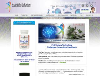 maxlifesolution.com screenshot