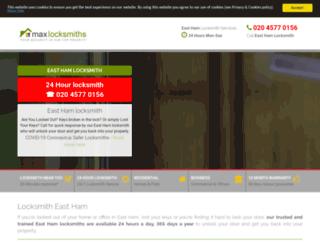maxlocksmitheastham.co.uk screenshot