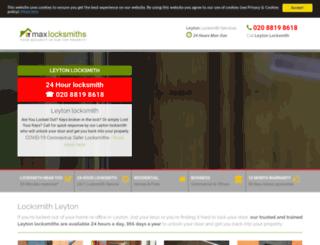 maxlocksmithleyton.co.uk screenshot