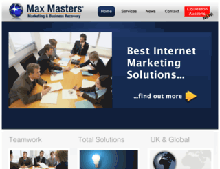 maxmasters.co.uk screenshot