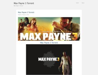 maxpayne3torrent.wordpress.com screenshot