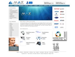 maxsolutions.in screenshot
